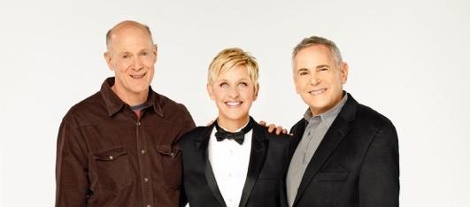 Craig Zadan & Neil Meron with 86th Oscars host Ellen Degeneres